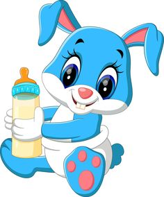 Find Illustration Cute Baby Rabbit Cartoon stock images in HD and millions of other royalty-free stock photos, illustrations and vectors in the Shutterstock collection. Cute Cartoon Pictures, Pictures To Draw, Eagle Cartoon, Baby Animals, Cute Animals, Baby Shower Labels, Canson, Happy Cartoon, Baby Clip Art
