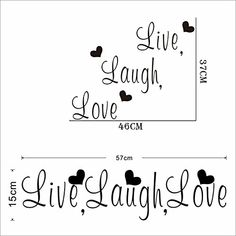 Live Laugh Love Inspirational Quotes Wall Stickers Room Decoration Diy Vinyl Adesivo De Paredes Poster Decals Mural Art 40^Design 4 8176 black *** Check this awesome product by going to the link at the image.