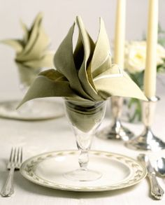 Serve Me, My Food Well: Spruce Up Your Tables With Beautiful Napkin Folds