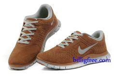 Billig Schuhe Herren Nike Free 4.0 V2 (Farbe:Sohle,innenundLogo-grau;vamp-braun) Online Laden.