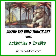 Where the Wild Things Are is a classic book of childhood. Here are Where the Wild Things Are activities to try after you read the book. Toddler Learning Activities, Literacy Activities, Educational Activities, Fun Learning, Preschool Scavenger Hunt, Preschool Books, Preschool At Home, Library Lessons, Book Week
