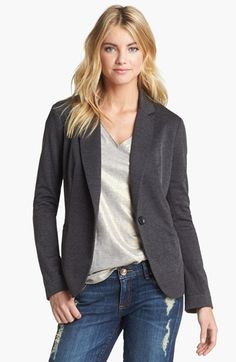 Free shipping and returns on Olivia Moon Knit Blazer at Nordstrom.com. A knit blazer with modern styling details is offered in a variety of solids and prints to color any wardrobe. The sleeves can be worn rolled or left long for versatility.