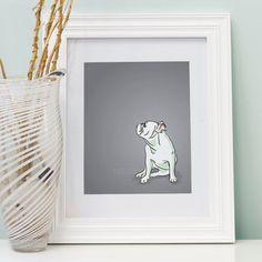Mini English Bulldog Portrait