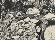 John Minton John Minton, New Artists, British Artists, David Hockney, Royal College Of Art, Landscape Drawings, Art Techniques, Art Forms, Line Art
