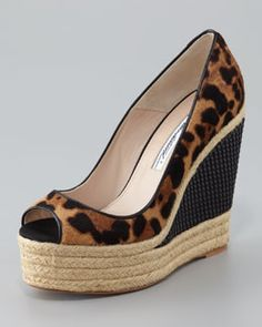 Brian Atwood Cailey Luxor Espadrille Wedge Pump...love it!!!
