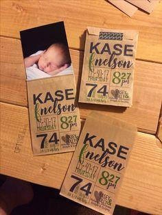 Treat bag washi tape baby boy birth announcement
