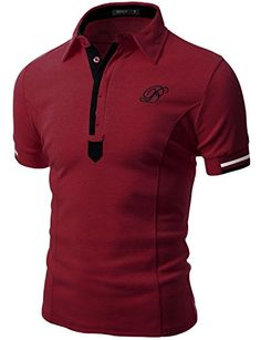 Doublju Mens Unique Comfortable Regular Fit Short Sleeve Polo T-shirt TAUPE,L Important: please be noted that the size values in the option are based on the Asian standard, if you do not match, please select a larger option for choosing your right size. Casual T Shirts, Casual Outfits, Men Casual, Polo Shirt Design, Mens Polo T Shirts, Plus Size Shorts, Summer Shirts, Shirt Style, Men Dress