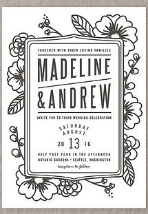 Modern design wedding invitation