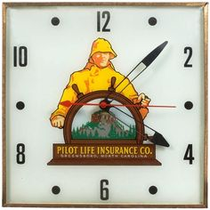 Pilot Life Insurance advertising clock | Cowans Auctions