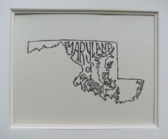 Maryland of Opportunity - Black on White - 8x10 Illustrated Print. $18.00, via Etsy.