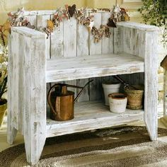 Wood Creations :: Bench from old wood fence by junkie john image by sangaree_KS - Photobucket