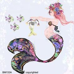 Pregnant Mother's Day Mermaid Fabric Block For Baby Showers Baby Nurseries DIY Quilts Crafts Mermaid Baby Showers, Baby Mermaid, The Little Mermaid, Mermaid Cove, Mermaid Art, Mermaid Fabric, Baby Nursery Diy, Kids Background, Pattern Pictures