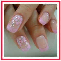 Pink flower tips
