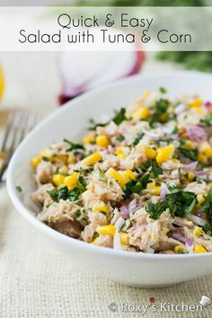Quick and Easy Salad with Tuna and Corn