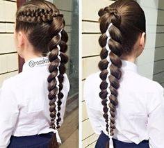 6 Peinados de trenzas con listones para niñas con cabello largo ~ Manoslindas.com Hairstyles For School, Girl Hairstyles, Braided Hairstyles, Makeup Yourself, Bobby Pins, Wigs, Braids, Hair Accessories, Long Hair Styles