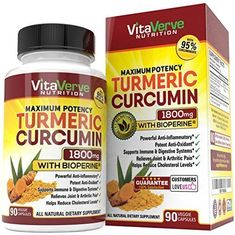 Turmeric Curcumin with Bioperine Schwartz Bioresearch 1500mg Highest Potency NEW #VitaVerveNutrition