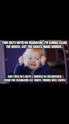 Fibro, migraine & chronic illness humor (it's really true but helps to laugh! Migraine Pain, Chronic Migraines, Migraine Relief, Chronic Fatigue, Chronic Pain, Endometriosis, Headache Humor, Migraine Quotes, Humor