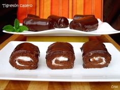 Tigretones caseros Ver receta: http://www.mis-recetas.org/recetas/show/44170-tigretones-caseros