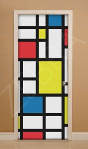 Shop Piet Mondrian Style Art Quote or Your Text Canvas Print created by YourSparklingShop. Mondrian Kunst, Piet Mondrian, Art Classroom Door, Classroom Themes, School Door Decorations, Class Decoration, Art Room Doors, School Doors, Painted Doors