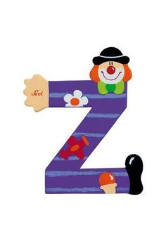 Sevi Alphabet (Clown) – Page 3 – SuperSmartChoices Yarn Covered Letters, Clowns, Decorative Alphabet Letters, Clown Party, Alphabet Style, Painted Letters, Graffiti Lettering, Toy Boxes, Letters And Numbers