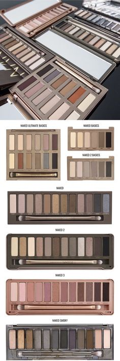 Paleta de sombras Naked Urban Decay #make #makeup #eyeshadow #sombra #maquiagem #beauty  #urbandecay #naked2 #naked3