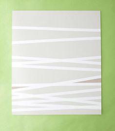 diy stripe art