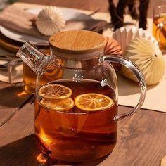 Glass Tea Cups, Glass Teapot, Brewing Tea, Sweet Tea, Mellow Yellow, Kristina Webb, Aesthetic Food, Cute Food, Tea Time
