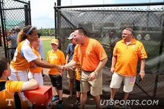 Coach Jones supporting the Lady VOLS Softball team