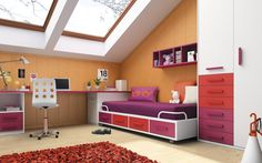 Infografia mueble juvenil. #fotografia #muebles #3d #decoracion