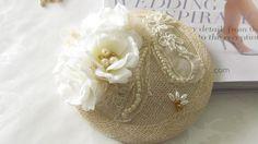 Bridal Hat  / Rhinestone Fascinator / Mini by MarieandAntoinette