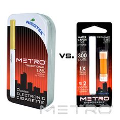 Having a hard time deciding between a rechargeable electronic cigarette or a disposable?