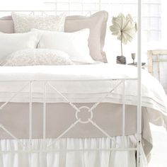 Pine Cone Hill Pleated Linen White Duvet Cover @Layla Grayce. Master bedding.