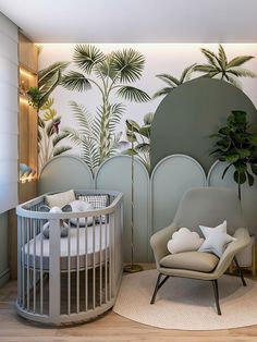 Baby room inspirations | Find more awesome nursery's decorations and furniture for kid's bedrooms at CIRCU.NET . . . . . . #circumagicalfurniture #kidsfurniture #crib #babyroom #babyroomdecor #babyroomideas #babyroomdesign #nursery #nurserydecor #nurseryinspo Luxury Kids Bedroom, Bedroom For Girls Kids, Luxury Nursery, Kids Bedroom Designs, Baby Room Design, Baby Room Decor, Bedroom Ideas, Inside Celebrity Homes, Cool Beds For Kids