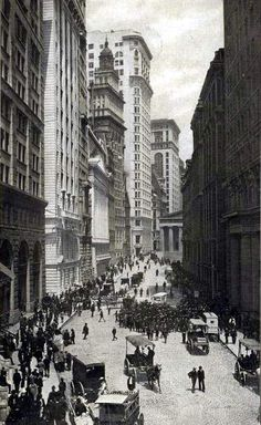 New York in Black and White 1904 Stock Exchange and Federal Hall
