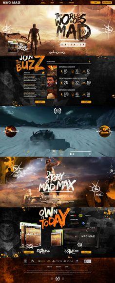 Behance에 MAD MAX 게임