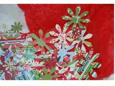 Christmas Confetti  50 Pack by SpringHouseCreations on Etsy