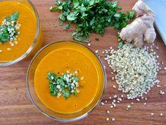 Raw Carrot Ginger Soup   Joe Cross Recipes   Healthy Blender Recipes