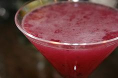 Blueberry Limeade Martini