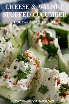 Cold Appetizers, Finger Food Appetizers, Appetizers For Party, Finger Foods, Appetizer Recipes, Cucumber Appetizers, Italian Appetizers, Cucumber Recipes, Vegetable Appetizers