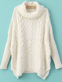 She In - cable knit sweater