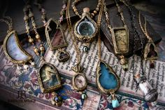 March update amulets & ornaments...a day in the studio