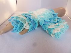 Hand crochet in crocodile stitch. this pair is made in light turquoise shades Crocodile Stitch, Fingerless Mittens, Crochet Designs, Hand Crochet, Shades, Colours, Turquoise, Trending Outfits, Unique Jewelry
