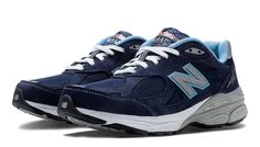 MADE IN USA New Balance 990v3, Navy with White & Light Blue