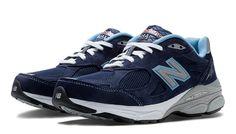 New Balance 990v3, Navy with White & Light Blue