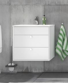 Badrumsskåp från Graphic.  Kommodskåp med tvättställ.