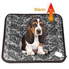 nice Pet Dog Cat Heating Pad Mat Waterproof Electric Warming Bed With Anti Bite Tube, EIISON