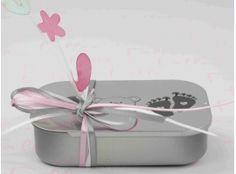 Dragées Baptême - Boite a dragee bebe fille avec fleurs