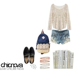"""""""Chicnova Back to School Outfit"""" by anggi-ramadhan on Polyvore"""