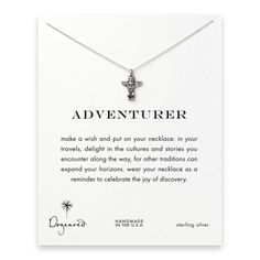 adventurer reminder necklace with sterling silver totem pole $48