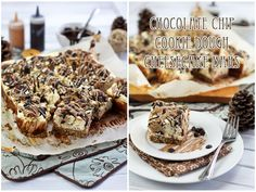 Crazy Healthy Chocolate Chip Cookie Dough Cheesecake Bars | The Healthy Foodie